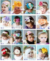 Wholesale Headband Hair Flowers Top Baby - TOP BABY girls hair ornaments babys flower Headbands Childrens Hair Accessories 60pcs 01popular-1980