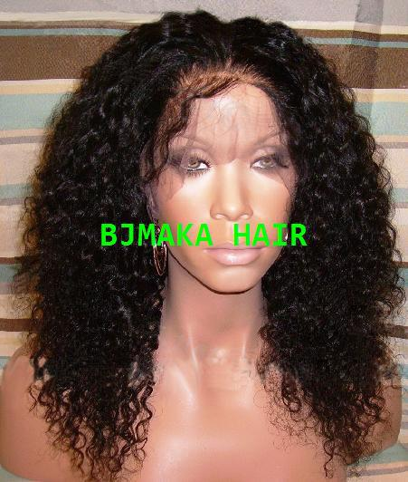 Free shipping Blench knot Brazilian hair Glueless Front Lace wigs/Full lace wigs Kinky Curly u part human hair wigs