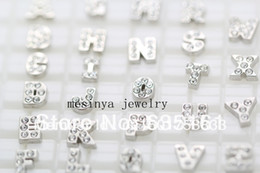letter z lockets Canada - Wholesale-260 pcs initials from A to Z floating charms for glass locket,each letter 10pcs