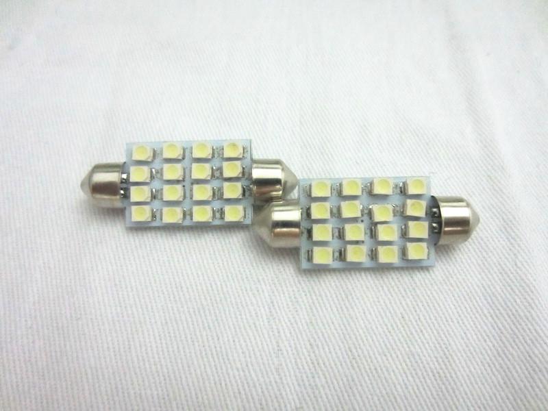 41mm 3528 16SMD LED lumière de lecture de voiture dôme festoon intérieur ampoules auto voiture feston LED toit lumière