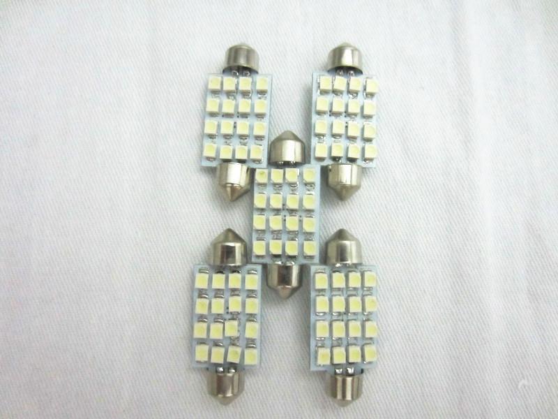 41mm 3528 16SMD LED luce di lettura auto cupola festone lampadine interne auto car festone LED luce del tetto