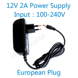Wholesale European Ac Cable - Hot 12V2A good quality Power supply adapter European plug for CCTV camera IP camera and DVR,AC 100-240V to DC 12V2A Converter