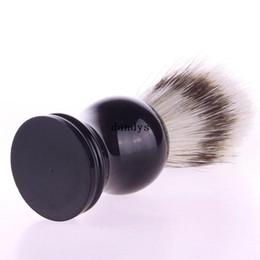 Pelo profesional de la cerda del tejón del Faux Badger del salón del peluquero del cepillo de afeitar profesional 01 # 48236, dandys