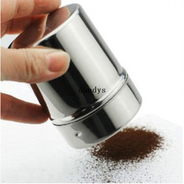 Wholesale Chocolate Metal - Stainless Chocolate Shaker Dredge Icing Sugar Powder Cocoa Flour Coffee Sifter#52615, dandys