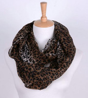 Wholesale Leopard Print Gift Wrap - Leopard Infinity Scarf Style Women Girl's Shawl Wrap Stole Lady Neckerchief NEW 2015 Classics Xmas Gift