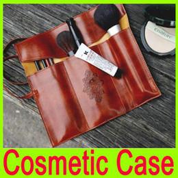 Wholesale Vintage Leather Makeup Case - Wholesale - 100% Brand New cosmetic storage bags Makeup Bags Moon Synthetic Vintage Leather Pencil Cosmetic Cases Cosmetics Bag Makeup Purse