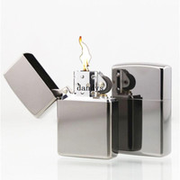 Wholesale Cigarette Tins - Novelty Windproof Kerosene Lighter Flint Ignition Tin Case Shaped Plain Gift#54804, dandys