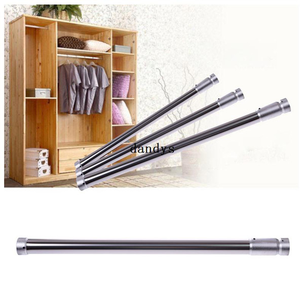 Hot Sale Adjustable Tension Rod Door Bathroom Shower Closet Curtain Rod Stainless Steel#55205, dandys