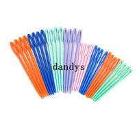 niños agujas de plástico al por mayor-100 piezas gancho de ganchillo niño plástico niño tejido educación costura tejer punto de cruz aguja de punto # 47333, dandys