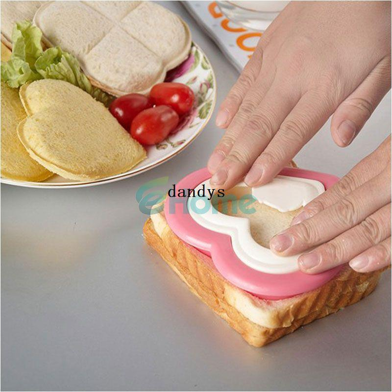 DIY Heart Shape Sandwich Maker Cake Cookies Kids Lunch Bread Mould Food Cutter#56977, dandys