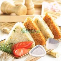 Wholesale Ceramic Form - 5Pcs Triangle Form Mold Sushi DIY Onigiri Rice Ball Bento Press Maker Mold Tool#56978, dandys