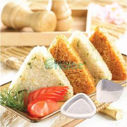 Wholesale Bento Tools Wholesale - 5Pcs Triangle Form Mold Sushi DIY Onigiri Rice Ball Bento Press Maker Mold Tool#56978, dandys