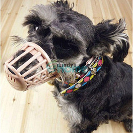 Wholesale Plastic Muzzle - Adjustable Plastic Pet Care Dog No Bite Basket Mesh Mask Mouth Muzzle Cage #56881, dandys