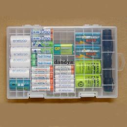 Wholesale C Battery Storage - Multi-function AAA AA C D 9V Battery Storage Holder Plastic Case Box Hard Rack [23495|01|01], dandys