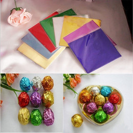 Wholesale 100pcs New Candy Chocolate Sweets Confectionary Square Foil Wrapper Package Paper 8*8cm Free Shipping dp671471