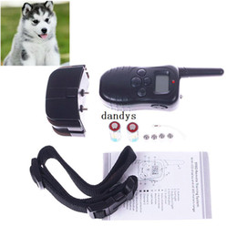 Wholesale product levels - Hot Sale 100 Level Pet Dog LCD Shock Vibration Remote Control Training Bark Stop Collar#55203, dandys