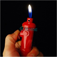 Wholesale Fire Hydrants - Novelty Fire Hydrant Shaped Cigarette Regular Flame Butane Gas Smoking Lighter#56727, dandys