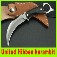 Wholesale Union Knives - Wholesale - Tactical knife united UC&120 claw karambit Top quality united Hibben Claw karambit 440C blade 59HRC union Pocket knife gift 205L