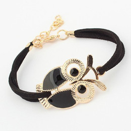 cute jewelry for sale NZ - 4 Colors New Design Hot sales Personalized Fashion Vintage Elegant Cute owl bracelet Statement Jewelry for women wholesale LS66