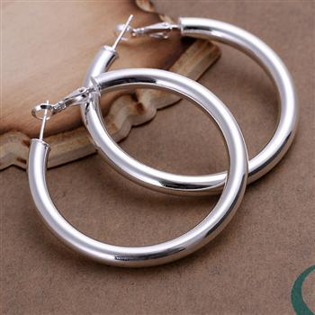 best selling Exaggerated Earings diameter 5cm Hollow 925 Sterling Silver Jewelry Earings Charming women girls Ear hoop Earrings 10pairs lot