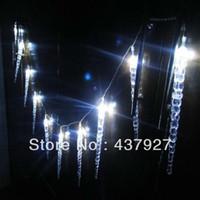 ingrosso luci blu icicles-All'ingrosso-10m 100 LED chiaro bianco / blu gocciolante forma ghiacciolo luci di Natale luci stringa corda di decorazione del partito di Natale