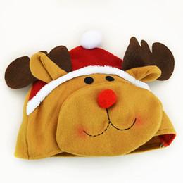 Wholesale Doll Santa Hats - Cristmas new year navidad noel decoration Christmas hat cute doll santa claus snowman deer clothes head decoration