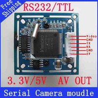 Wholesale Rs232 Uart - Wholesale-UART RS232 TTL JPEC serial camera Module SCA-1 with video out VC0706 protocol Free shipping!!