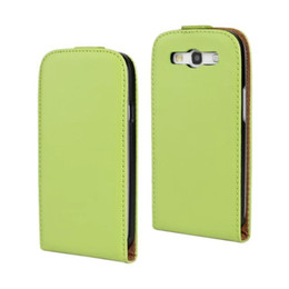 Wholesale galaxy s3 slim case - Wholesale High Quality Genuine Leather Vereical Slim Flip Case Colorful Cover for Samsung Galaxy S III S3 i9300 Free Shipping