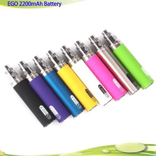 New Arrival Big Capacity EGO II 2200mah electronic cigarette ego 2 week kgo 1 week battery colourfull kgo battery for Nautilus MT3 Protank