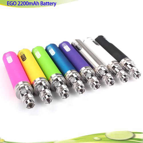 New Arrival Big Capacity EGO II 2200mah electronic cigarette ego 2 week kgo 1 week battery colourfull kgo battery for Nautilus MT3 Protank