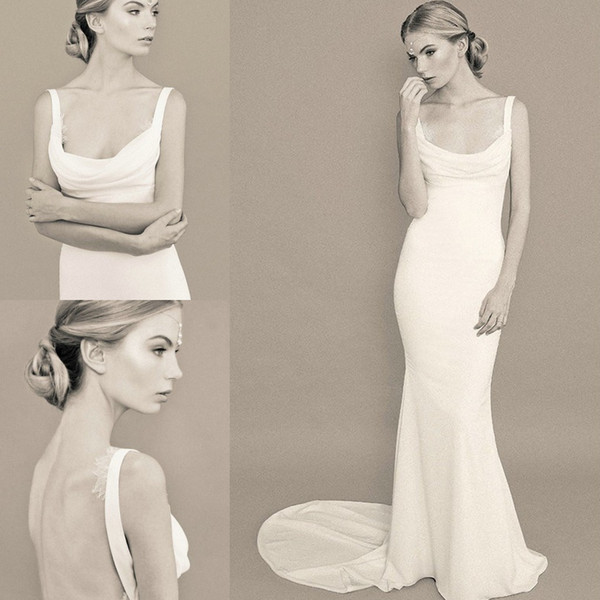 abbastanza Donne eleganti purezza Dea greca Abito da sposa scollo Incredibile  DY62