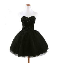 Robe de bal 2014 nouvelle mode noire dentelle chérie perles organza robes  de cocktail élégante robes de soirée 7446f67a6e95