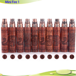 Wholesale E Cigarette Zodiac - Mini Fire 1 wooden Battery e cigarette mini wooden ego Battery 650mha 900mah with Chinese Zodiac Signs Hot selling DHL free
