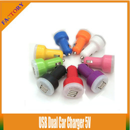 Wholesale Power Battery Mini S3 - 10pcs lot!!Colorful Mini Dual USB 2 Port Car Charger 5v Power Adapter For Samsung S3 S4 S5 Mobile Phone Charger E Cigarette eGO Evod Battery