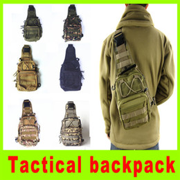 Camouflage Camping gear online shopping - Tactical Molle Utility Gear Shoulder Sling Bag outdoor cycling chest hang bag camouflage Chest bag camping hiking bag A256L