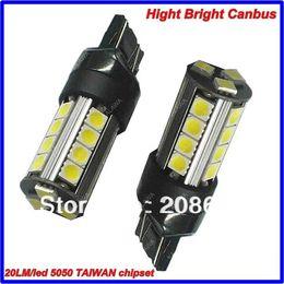 Wholesale 3157 Bulb Wholesale - 2pcs 3157 23 SMD 5050 KALAWA TAIWAN chipset High bright CANBUS Error Free Car LED Fog Light Bulb Lamp Frees hipping TTT