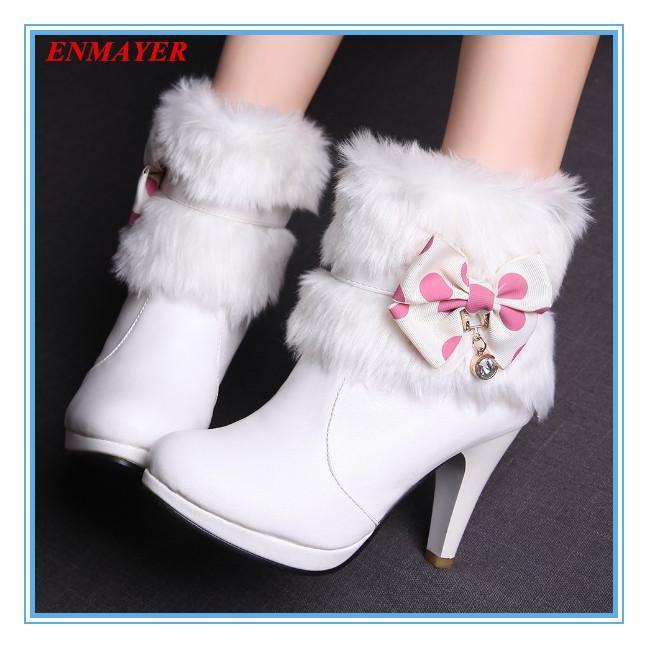 Compre Enmayer Nuevo 2015 Botas Zapatos De Moda Botines Botas 2015 De Invierno 0c2407