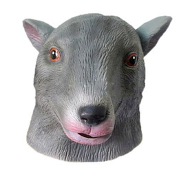 Wholesale deluxe halloween masks - Mouse Mask Deluxe Latex Animal Mask Party Cospaly Halloween Costume Mask Theater Prop Novelty New Style free shipping