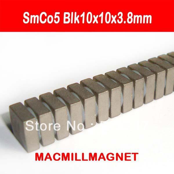 Brand New aimant de température de travail élevée aimant permanent SmCo de terres rares bloc 20pcs / pack blk10x10x3.8mm