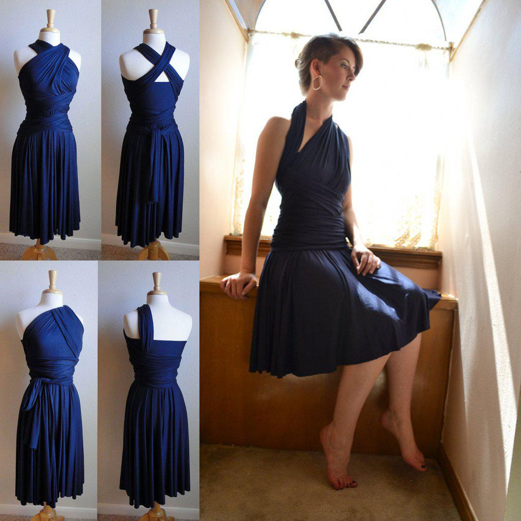 Fantastic navy blue bridesmaid dress 2015 custom made plus size fantastic navy blue bridesmaid dress 2015 custom made plus size jersey knee length short bridesmaid dresses for prom party gowns beautiful bridesmaid ombrellifo Image collections