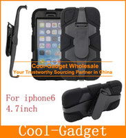 Wholesale Defender Case 4g - Belt Clip Anti-Shock Hybrid Heavy Duty Defender Stand Case Cover for iPhone 6 6G 6S 4.7 6+ Plus 5.5 4 4G 5 5S 5G 5C iPhone6 IP6C60