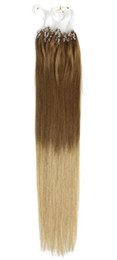 Discount blonde human hair micro extensions - 5A Grade 0.5g*200s Straight 12''-22'' 24'' 26'' 28'' 30'' Lo