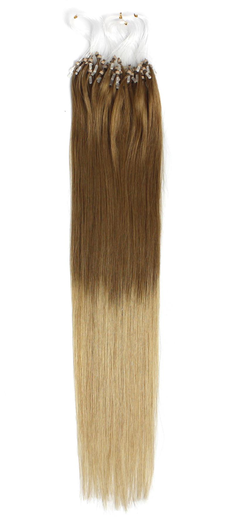 5A Grade 0.5g*200s Straight 12''-22'' 24'' 26'' 28'' 30'' Loop Micro Rings 100% Indian Human Hair Extensions