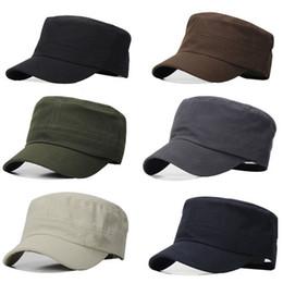 Ordenes de viaje online-El pedido mínimo es de $ 5 (orden de la mezcla) 5colors Moda Sombrero militar Gorra de béisbol Hombres y mujeres Viajes al aire libre Sombrero para el sol Sombrero del ejército 80527
