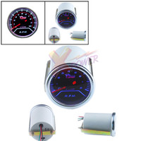 "Wholesale Led Tacho - Xpower-NEW 2"" 52mm SMOKE LEN TACHOMETER TACHO LED GAUGE FOR 4  6  8 CYL CAR AUTO MOTOR"