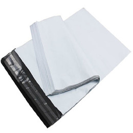 Wholesale White Poly Mailing Envelopes - New Arrival White Mail Bags High Quality Poly Self-seal Mailbag Plastic Bag Envelope Courier Postal Mailing 17*29cm