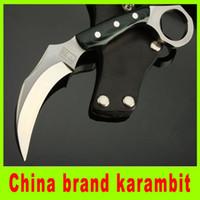Wholesale China Karambit - China brand claw karambit knife 7Cr17 blade survival knife popular pocket hiking knife high quality best christmas gift 202L