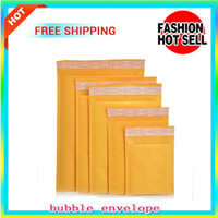 Wholesale Envelope Pouches - Yellow Bubble Envelope Wrap Bag Pouches Packaging PE Bubble Bags outer size 110*130mm,150*200mm,200*250mm,230*280mm Kraft Bubble Mailers Pad