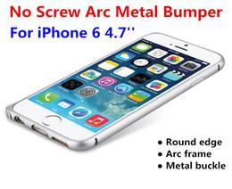 Argentina For 6G Screwless Curved Metal Buckle Frame Bumper Luxury Ultra delgado delgado arco redondo de aluminio caso de la cubierta dura para iphone 6 Plus 4.7 5.5 pulgadas Suministro