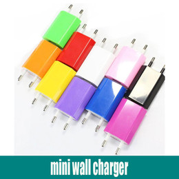 Wholesale Galaxy 4s Wall Charger - Mini EU USA Wall Adapter USB Home Travel Charger Power Cube 1A USB Wall Charger For Smartphone 4S 5S Samsung Galaxy Note 3 E Cig eGO Battery